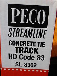 Peco #552-SL-8302 Streamline 83 Line Flexible Track (1 pcs)- Concrete Ties