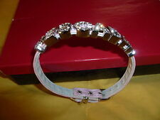 New ESCADA leather strap with embellishment wristband/bracelet/anklet in pink.
