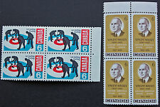 Timbre / Stamp CANADA - Yvert et Tellier n°411 x4 et 412 x4 n** (cyn7)