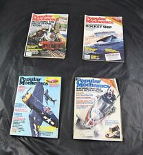 Lot Of 4 Vintage Back Issues Popular Mechanics Early 1980s Steam Trains  S4O15