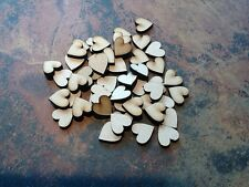 50x Wooden Heart shapes Laser Cut MDF. Blank Embellishments Craft 20mm x 20mm