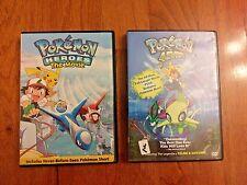 Pokemon 4Ever & Pokemon Heroes DVD's (TWO MOVIES)