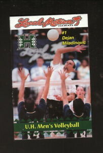 Hawaii Warriors--2001 Volleyball Pocket Schedule--Local Motion/David
