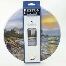 Perfect Day Lighthouse Beach Stove Top Burner Metal Covers Set 4 Darrell Bush