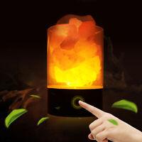 Beauty Himalayan Natural Crystal Salt Lamp Night Light Tower Air Purifier