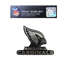 Promark New NFL Arizona Cardinals Plastic Chrome 3-D Auto Emblem Sticker Decal