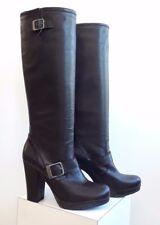 Runnerbull Road Lady Women's Italian Leather Biker Boot Size 6.5