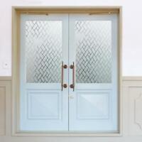 Glas Film 3D Mattiert Tür Fenster Aufkleber Privacy Selbstklebend Balkon Küche