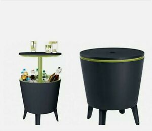 Garden Patio Bistro Party Table With Built In Ice Bucket.