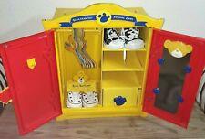 Build A Bear Beararmoire Fashion Case Closet Wardrobe Yellow With Shoes & Hanger