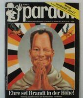 pardon die deutsche satirische Monatsschrift Dezember 1971 B-16025