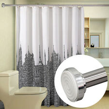 Telescopic Shower Curtain Rail Extendable 125-220cm Rail Rod Pole Rods Rails