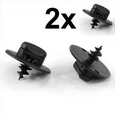 2x VW Floor Mat Fastener Carpet Screw clips plastic screws turn lock oval hole