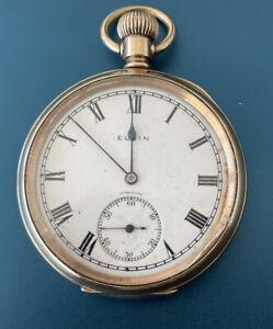 ELGIN Hunter Pocket Watch, Grade 293  Size16s Serial 27217527, 7 Jewels  Working