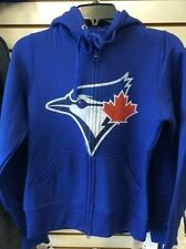 Toronto Blue Jays Large Hoodie MLB Baseball Hoody French Terry Ladies Thumb Hole