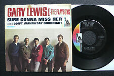 "7"" Gary Lewis & Playboys - Sure Gonna Miss Her - USA Liberty w/ Pic"