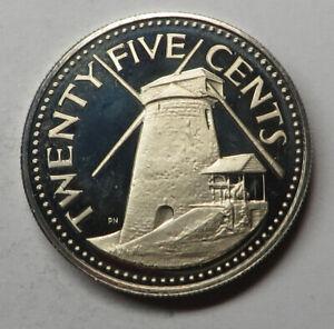 Barbados 25 Cents 1973FM (P) Copper-Nickel KM#13 Proof