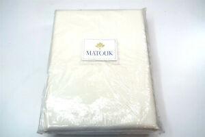 New MATOUK King Coverlet in DIAMOND PIQUE ELLIOT WHITE Size 112 x 97, Style 062
