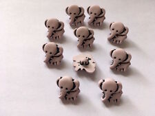 Pale pink elephant shank buttons nylon - width 15mm - pack of 10