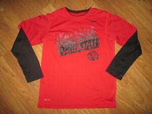 Boys NIKE DRI FIT OHIO STATE BUCKEYES athletic shirt sz S SM