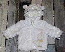 ~ 0/1 mois DISNEY Winnie - CYN15 ~   Veste en fausse fourrure blanche Mixte
