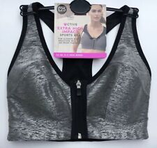 a79e0e1505a03 ZIP SPORTS BRA M S Extra High Impact Non Wired 32C 32D 34A 38E 38F 40C 40E