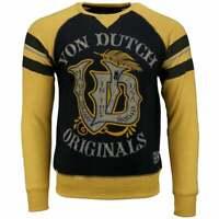 Von Dutch Fleece Long Sleeve Tee  Casual   Tops - Black - Mens