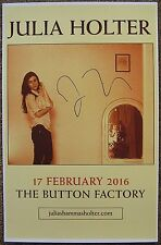 Signed JULIE HOLTER Gig POSTER In-Person (with proof) Concert Autograph