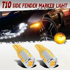 Amber 5730-SMD High Power Front Side Marker Led Car Bulb 194 168 T10 Lights-2 Pc