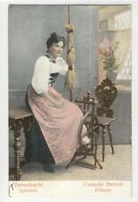 AK Bern, Tracht, Spinnerin, 1910