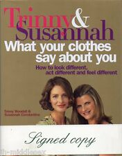 Trinny and Susannah Autograph - Hardback Book Signed - AFTAL