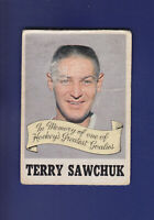 Terry Sawchuk Memorial 1970-71 O-PEE-CHEE Hockey #231 (FAIR)