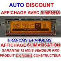 Peugeot et citroen affichage écran 207,307,407,308 - C2, C3, C4, C5, C8 NEUF