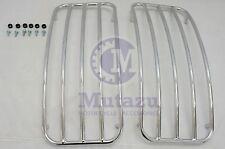 Mutazu Chrome Metal Top Rack Rails (A) for MU Universal Hard Saddlebags