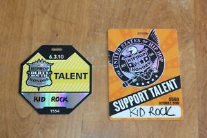Kid Rock  2 x Laminated Backstage Pass - Hip Hop Honors Awards