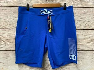 Under Armour Board Shorts Mens Size 36 Royal Blue Mantra Stretch Shorts New
