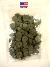 Rubberized Abrasive / Polishing Wheels, 100 Wheels, Silicon Carbide, Green.