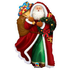 Party Supplies Christmas Santa Festive Old Saint Nick Shape Foil Balloon
