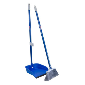 Stand And Store Lobby Broom And Dustpan Set | Cleaning Floor Home Kitchen Tools