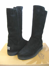 UGG COLLECTION ABREE SUEDE WOMEN TALL BOOTS BLACK  US 9 /UK 7.5 /EU 40