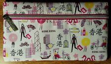 """Clinique Cosmetic Makeup Bag Hong Kong Theme Zippered New/Unused 8.5""""x5"""""""