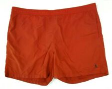 Polo Ralph Lauren 1XB Big Red Bathing Swim Trunks Blue Pony Lined Drawstring