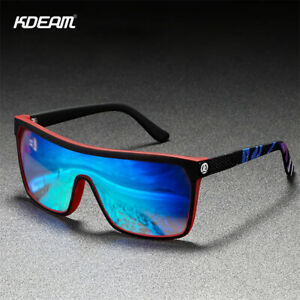 KDEAM Unisex Sport Polarized Sunglasses Men Women Square Fishing Driving Glasses