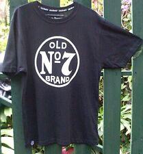 91e0cd77db71b JACK DANIEL S (S) OLD NO 7 BRAND Black Men s COTTON T Shirt MAN CAVE