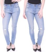 Womens High Waisted Ripped Distressed Denim Jeans All Sizes & Leg Lengths