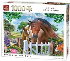 1000 Piece Animal Collection Jigsaw Puzzle - HORSES AT THE GATE FENCE 05388
