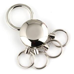 Durable 4 Loops Waist Hanging Keychain Keyring Detachable Key Chain Key Holder