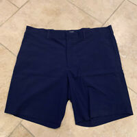 J. Crew Men's  Flat-Front Stretch Chino Shorts Navy, Size 38