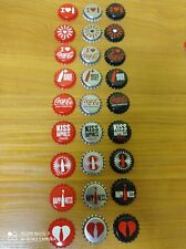 Rare Coca-Cola Bottle /Crown cap -I LOVE COCA-COLA /HAPPINESS from Hungary 27pcs