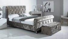 Balmoral Sleigh Crushed Velvet Bed